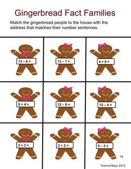 Math Gingerbread Games & Activities K-1
