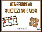 Math!  Gingerbread Subitizing Cards FREEBIE!