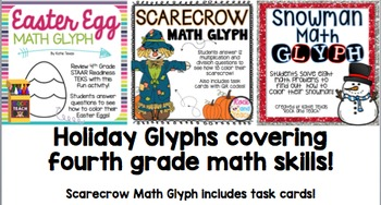 TEST PREP: Color by Code Math Review with Math Glyphs