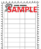 Math Goal Setting - GOAL TRACKING SHEET