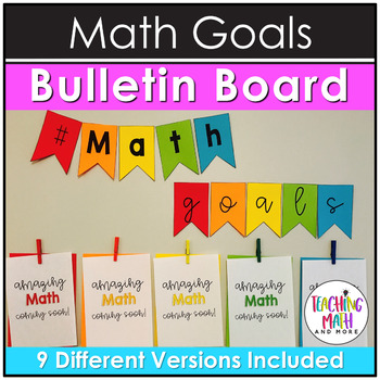 Math Goals NO PREP Bulletin Board