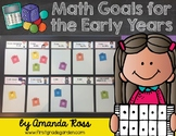 Math Goals for the Early Years {Editable!}