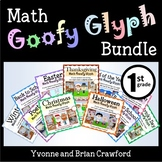 Math Goofy Glyph Bundle - (1st Grade Common Core)