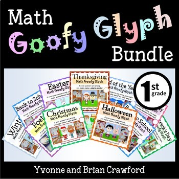 Math Goofy Glyph Bundle - (1st Grade Common Core)