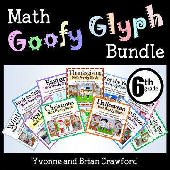 Math Goofy Glyph Bundle - (6th Grade Common Core)
