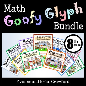 Math Goofy Glyph Bundle - (8th Grade Common Core)
