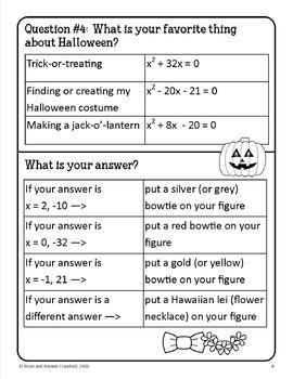 Math Goofy Glyph Bundle - (Algebra Common Core)