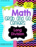 Math Grab and Go Centers: Long Division CCSS 5th Grade and 6th Grade
