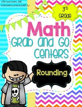 Math Grab and Go Centers: Rounding: CCSS 3rd Grade