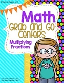 Math Grab and Go Centers:Multiplying Fractions CCSS Aligned 4th and 5th Grade