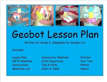 Math Gr 2-6 Geometry Lesson Plan 2D 3D Figures NETS Geobot Hands On Project CCSS