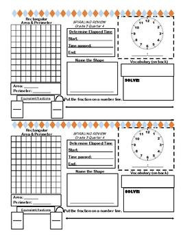 Math Grade 3 Spiraling Review Quarter 4