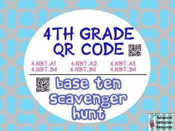 Math Grade 4 Common Core QR Scavenger Hunt