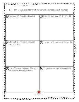 Math Grade 5 Module 2 Assessment/Test (English)