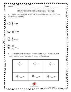 Math Grade 5 Module 3 Study Guide (ENGLISH)