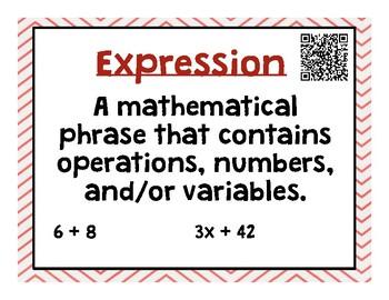 Grade 6 Go Math Unit 5 Word Wall