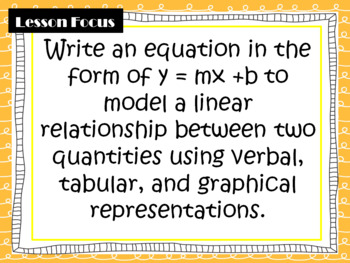 Math Grade 8: Writing Linear Equations