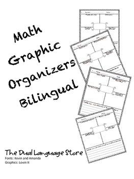 Math Graphic Organizer Multiplication Skills Bilingual