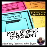Math Graphic Organizers Growing Bundle