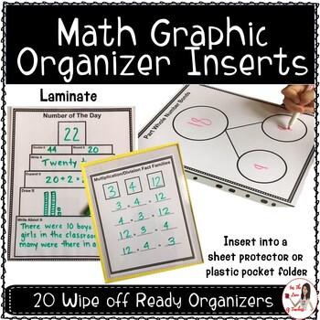 Math Graphic Organizer Inserts