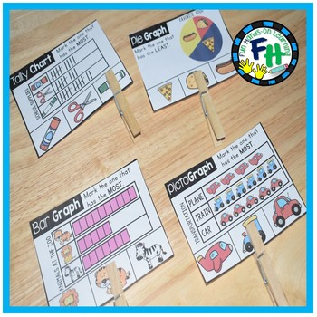 Math Graphing Center {Clip Cards}