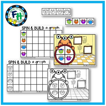 Math Graphing Center {Spin & Build a Monster Graph}