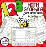 Math Graphing NO PREP Cut and Paste Activities