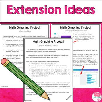 Math Graphing Project- End of Data/Graphing Unit Skills Application
