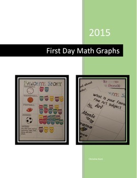 Math Graphs for First Day