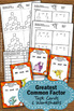 Greatest Common Factor Task Cards, 6th Grade Math Review, GCF Center