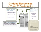 Math Griddable Responses Reference