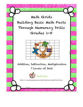 Math Grids - Number Fact Drills for Addition, Subtraction and Multipication
