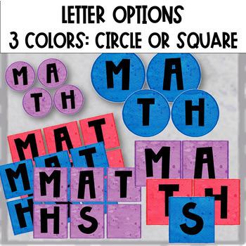 Math Group Center Labels // Editable