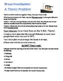 Math Group Investigation: A Titanic Problem