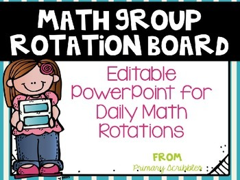 Math Group Rotation Board~Editable PowerPoint for Interactive Whiteboard