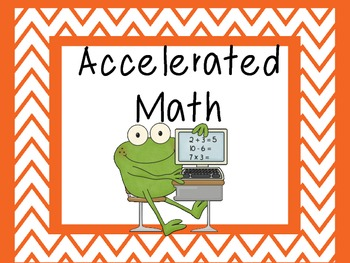 Math Groups (Frog Theme)