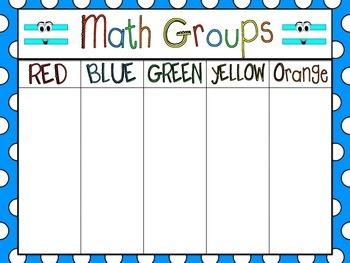 Math Groups Organizer