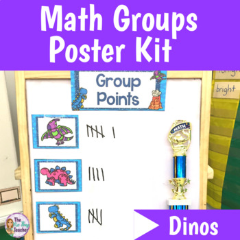 Small Group Math Poster Kit Dinosaurs