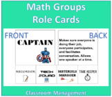 Math Groups Role Cards