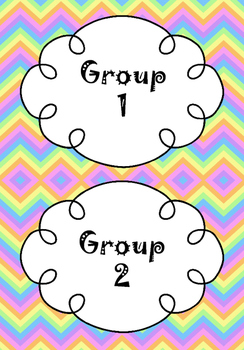 Math Groups - Signs and Printables