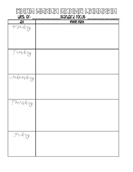 Math Lesson Plan Template (Whole and Small Group)
