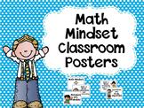 Math Growth Mindset Classroom Posters
