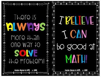 Math Growth Mindset Poster Set
