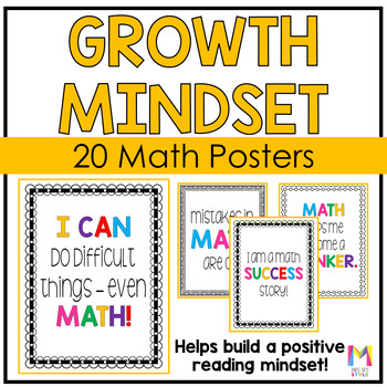 Growth Mindset Posters for Math