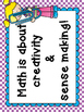 Math Growth Mindset Posters or Classroom Math Norms