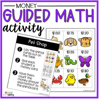 Money Guided Math Activity Pet Shop