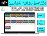 Math Guided Notes *FULL YEAR* Bundle   6th Grade - Distanc