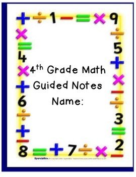 Math Guided Notes Cover