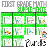 First Grade Math Printables YEAR LONG BUNDLE