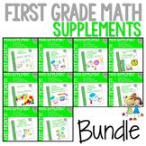 First Grade Math Printables YEAR LONG BUNDLE